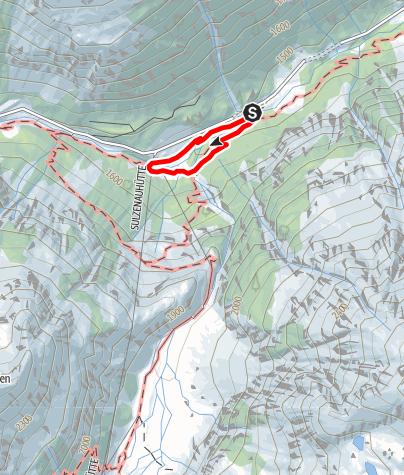 Karte / WildeWasserWeg: Rundweg Grawa Wasserfall