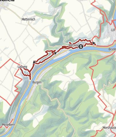 Map / WeinWetterWeg Hatzenport - Kulturweg an der Mosel