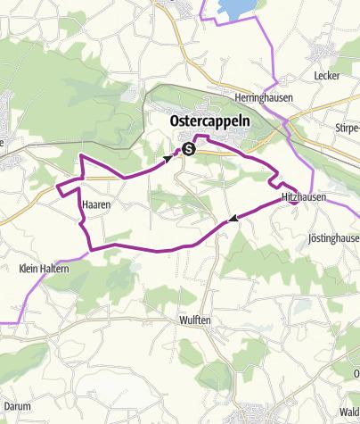 Karte / OC 1 Rund um Ostercappeln - Wiegbold, Windthorst und Waldesruh