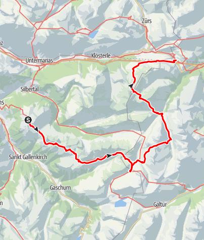 Map / Verwalltour - vom Montafon zum Arlberg