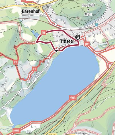 Karte / Barrierefrei durch den Bruggerwald