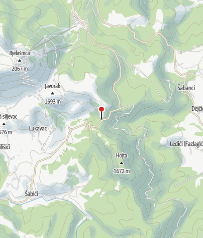 Map / Mountain Lodge Bijele Vode