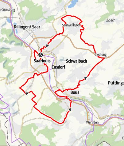 Karte / Saarlouiser Runde