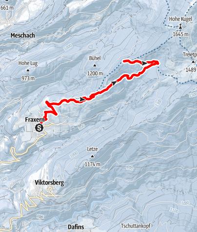 Karte / Ein aussichtsreicher Sonnenberg -  Von Fraxern zur Alpe Maisäß