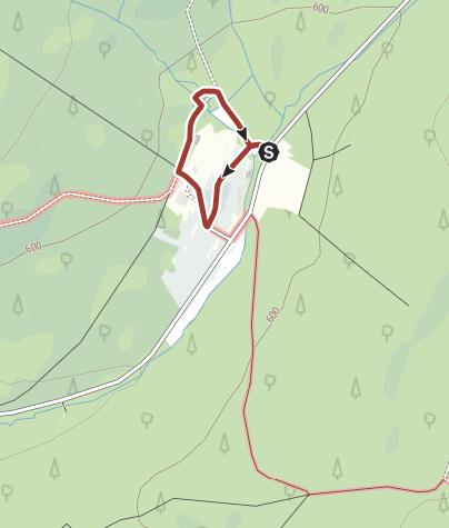 Karte / Nationalpark-Inseltour bei Thranenweier im Nationalpark Hunsrück-Hochwald (barrierefrei)