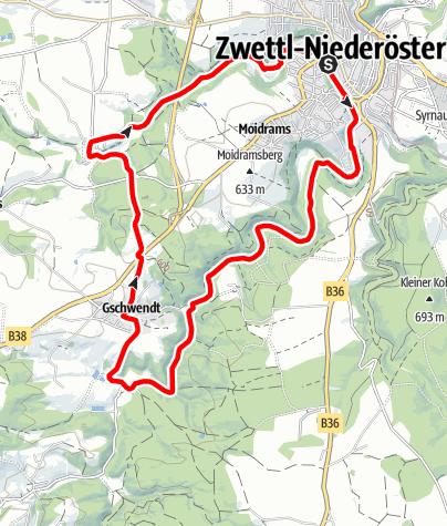 Map / Zwei-Flüsse-Tour