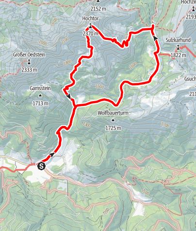 Karte / Hochtor - 2.369 m - über Josefinensteig