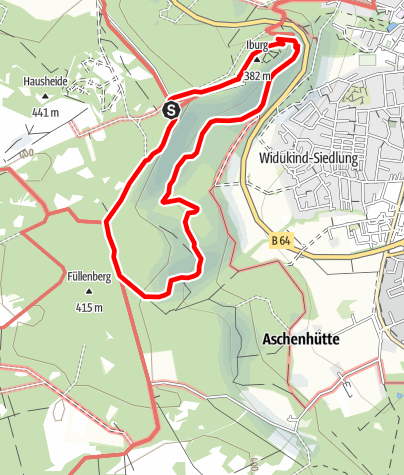 """Kaart / Bad Driburg - GPS-belevingspad """" De wereld van het bos"""