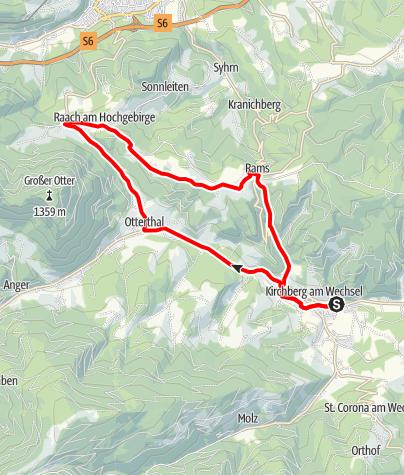Karte / Goldberg-Strecke