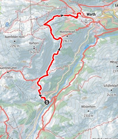 Karte / Tannberg - Auf den Spuren der Walser Wanderung III