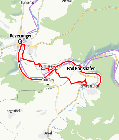 Kaart / Drei auf einen Streich im Dreiländereck: Weser, Diemel, Weser-Skywalk