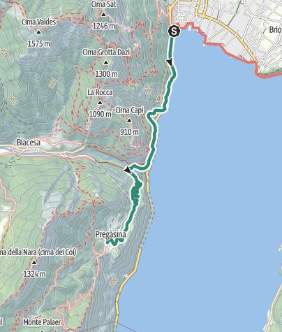 Karte / Der Sentiero della Ponale: ein Muss für Wanderer im Garda Trentino