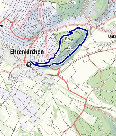 Karte / Steinzeitpfad Ölberg Ehrenkirchen