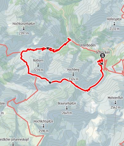 Karte / Von Schröcken über's Fürggele zur Biberacherhütte
