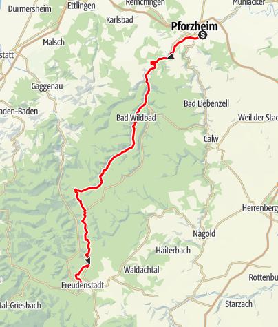 Map / Schwarzwald Panorama-Radweg - Etappe 1