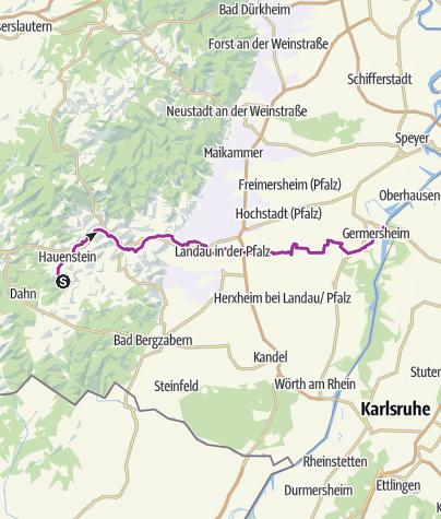 Karte / Queichtal-Radweg