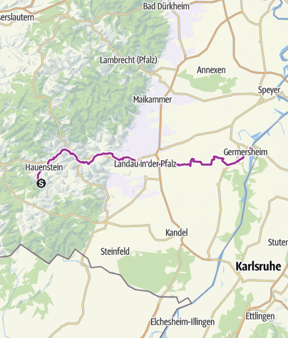 Map / Queich Valley Cycleway