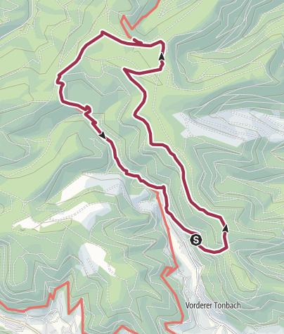 Karte / Genießerpfad - Baiersbronner Tonbachsteig