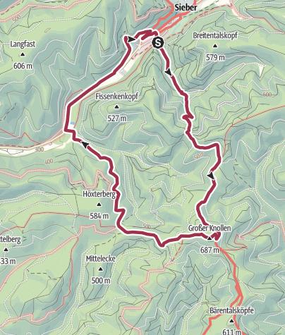 Karte / BaudenSteig Rundweg Nr.4: Sieber