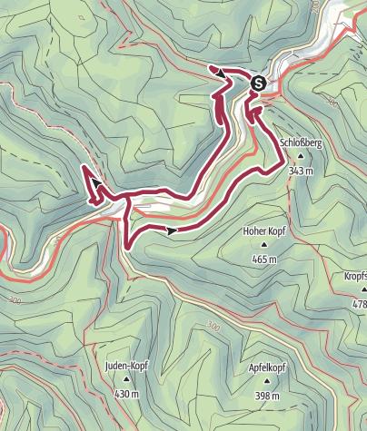 Map / Erfenstein - Drei-Burgen-Rundweg