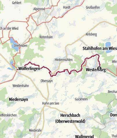 Karte / WesterwaldSteig  05. Etappe Westerburg - Freilingen (Ost-West)