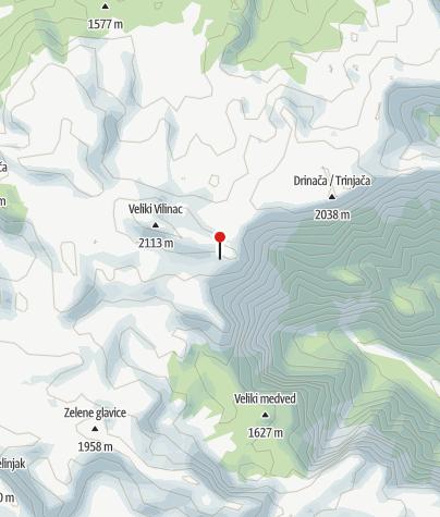 Мапа / Planinarski dom Vilinac