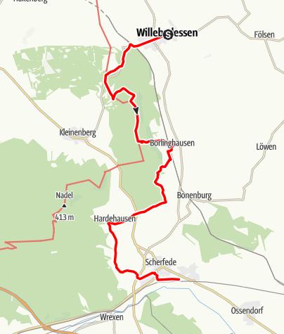 """Karte / Unterwegs zum """"Kleinen Herrgott"""""""