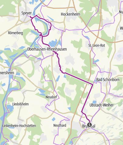 Karte / Schönbornroute - vom Barock in Bruchsal zur Romanik nach Speyer