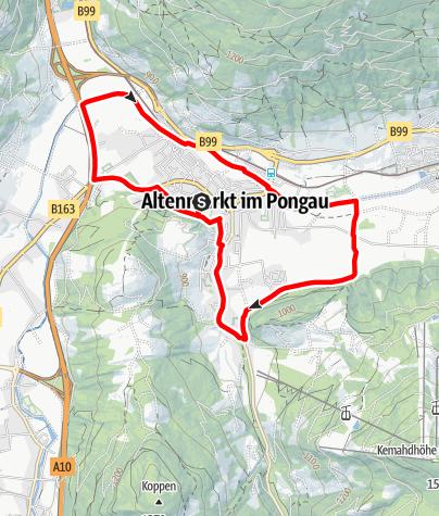 Karte / Orts-Runde Laufen