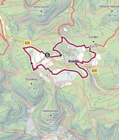 Karte / Genießerpfad - Der Kniebiser Heimatpfad