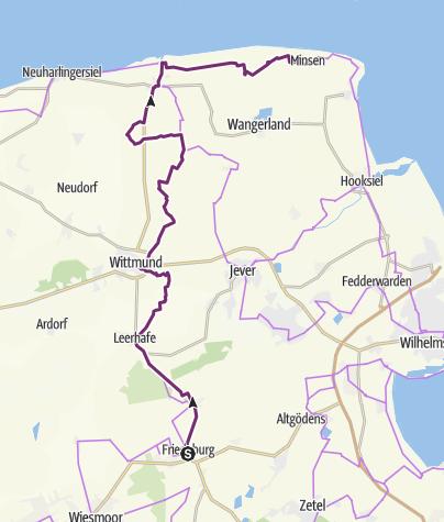 Karte / Tour de Fries - 4. Etappe (4/6)