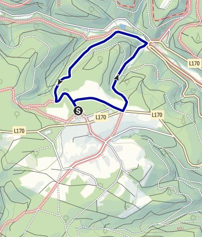 Karte /  Rundweg Nr. 15 Ebnet - Steinasäge