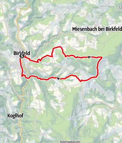 Karte / Von Birkfeld auf den Gschaider Sattel