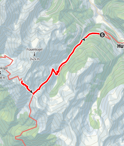Map / Grossarltal: Gamskarkogel