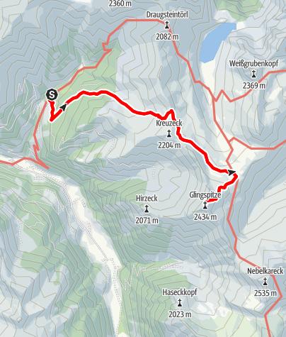Map / Hüttschlag: Klingspitz