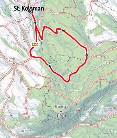 Karte / St. Koloman: Rundweg Dorf - Eiblgut