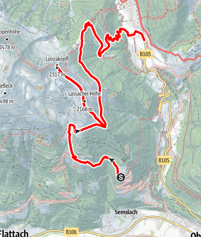 Karte / Himmelbauer - Lonza - Mallnitz