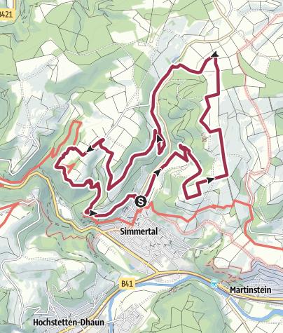 Kaart / Vitaltour Felsengarten