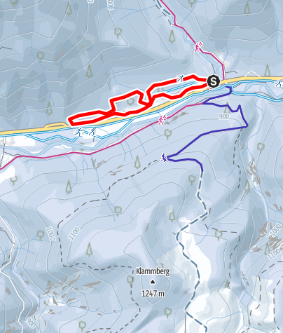 Karte / Skatingloipe Klamm - Bayerwald 2,6 km