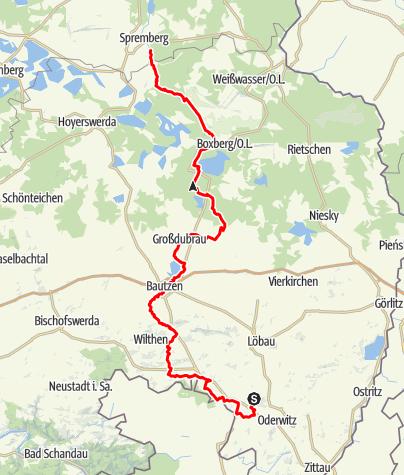 Karte / Spreeradweg – vom Oberlausitzer Bergland bis ins Lausitzer Seenland