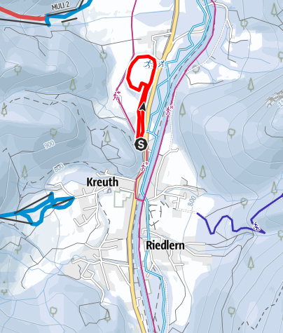 Karte / Nachtloipe Brunnbichl