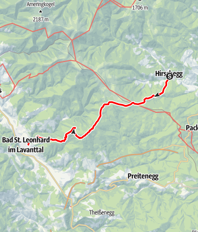 Karte / Hirschegger Wallfahrtsweg