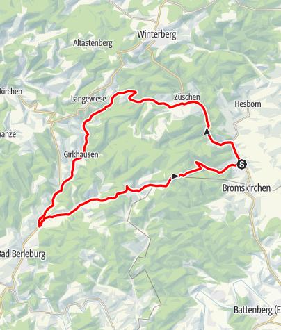 Karte / Bike Arena Sauerland - Hallenberger Warm up