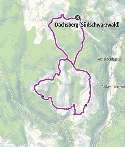 Karte / Dachsberg: Mit dem Fahrrad erkunden
