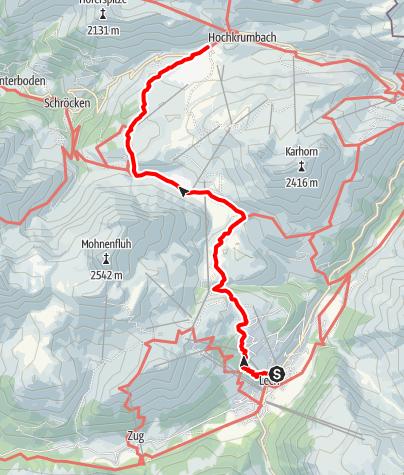 Karte / Tannberg - Auf den Spuren der Walser Wanderung II