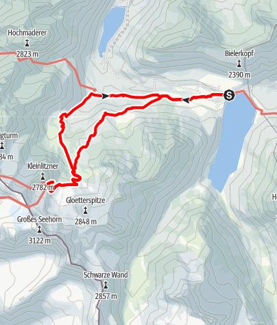 Karte / Zur Saarbrücker Hütte - Bergwanderung mit tollem Gletscherblick