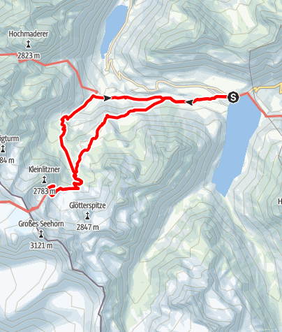 Map / Zur Saarbrückner Hütte - Bergwanderung mit tollem Gletscherblick