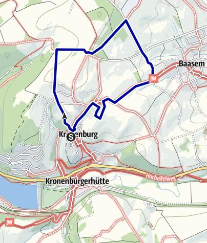 Karte / Wanderung zum Eifel-Blick