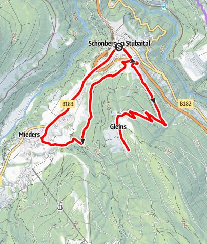 Karte / Elektrofahrradtour Zauberwald und Gleinser Höfe