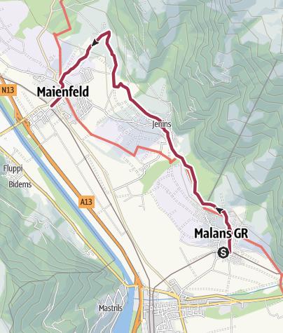 Karte / Malans - Maienfeld